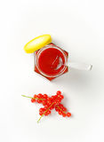 Red currant jelly Stock Photography