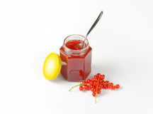 Red currant jelly Stock Photo