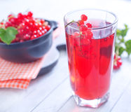 Red currant juice Stock Images