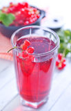 Red currant juice Royalty Free Stock Photography
