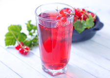 Red currant juice Stock Photo