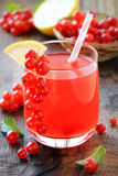 Red currant lemonade Stock Photo