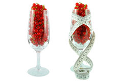 Red currant and meter Stock Photos