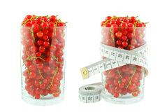 Red currant and meter Royalty Free Stock Images