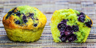 Red currant muffins Royalty Free Stock Photos