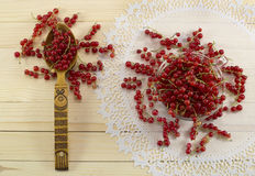 Red currant on the napkin Stock Photography