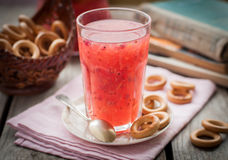 Red Currant and Orange Fool with Cracker Rings Stock Photography