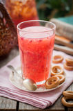 Red Currant and Orange Fool with Cracker Rings Stock Image