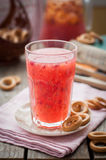 Red Currant and Orange Fool with Cracker Rings Royalty Free Stock Photos