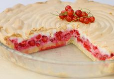 Red currant pie Royalty Free Stock Photography