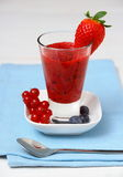 Red currant, raspberry, blueberry smoothie. Soft focus Stock Photography