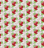 Red currant seamless doodle vector pattern Stock Photo