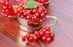 Red currant on table Stock Photography