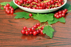 Red currant on table Royalty Free Stock Photography