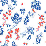 Red Currant. Vector seamless pattern. Royalty Free Stock Photo