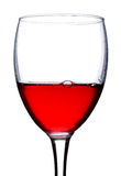 Red currant wine in glass with bubble. Close-up red currant wine in glass with bubble, isolated on white Royalty Free Stock Photography