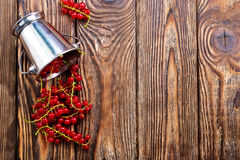 Red currant. On the wooden table,stock photo stock images