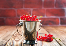 Red currant. On the wooden table,stock photo stock image