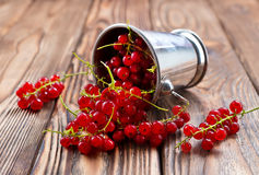 Red currant. On the wooden table,stock photo stock photography