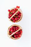 Red currants in basket Royalty Free Stock Image