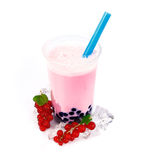Red Currants Boba Bubble Tea Royalty Free Stock Photos