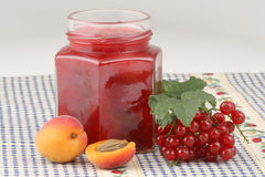 Red currants jam Stock Photo