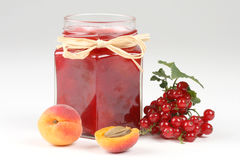 Red currants jam Royalty Free Stock Images
