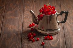Red currants in a jug Stock Photo