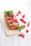Red currants pie stock photography