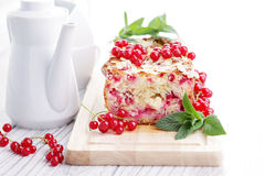 Red currants pie royalty free stock image