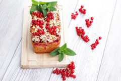 Red currants pie royalty free stock photography