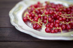 Red Currants. On a plate Stock Photos