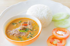 Red curry with beef Stock Photos