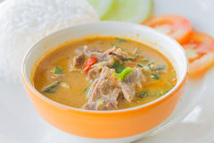Red curry with beef Stock Photo