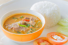 Red curry with beef Stock Image