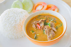 Red curry with beef Royalty Free Stock Photography