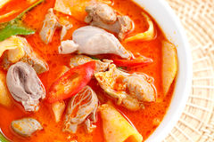 Red curry chicken Royalty Free Stock Image