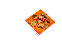 The Red curry with fish ball, Thai food. Stock Images