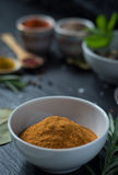 Red curry on porcelain Stock Photos