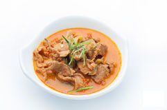 Red curry with pork and coconut milk (Panaeng), Spicy Thai food. Stock Images