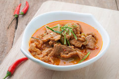 Red curry with pork and coconut milk (Panaeng), Thai food Royalty Free Stock Photography