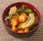 Red Curry with Pork and Coconut Milk stock photography