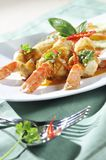 Red curry shrimp fried Stock Photography