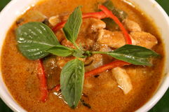 Red curry soup royalty free stock photography