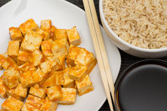 Red Curry Tofu Royalty Free Stock Image