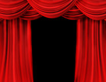 Red Curtain. Beautiful Red Curtain isolated on black stock illustration
