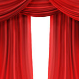 Red Curtain. Beautiful Red Curtain isolated on white royalty free illustration
