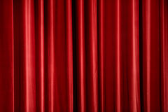 Red Curtain. Red stage curtain, background texture with copyspace Royalty Free Stock Photo
