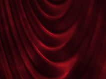 Red curtain. Beautiful red curtain, computer generated Royalty Free Stock Images