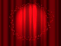 Red curtain. Asterisks on a background of red curtains Stock Photo